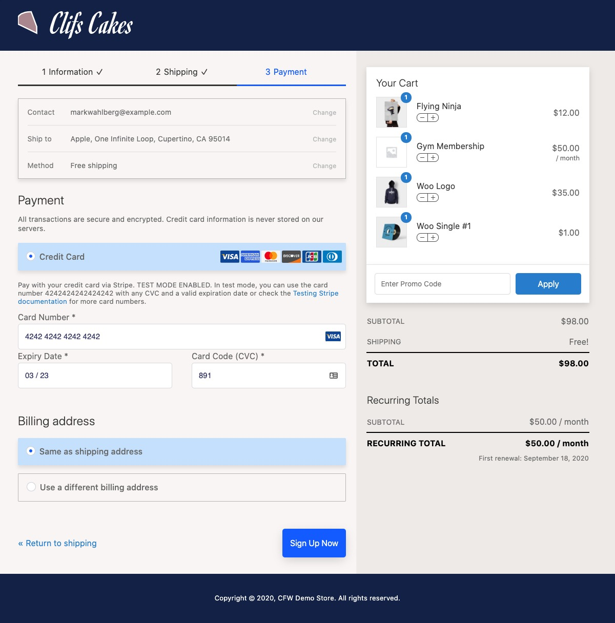 CheckoutWC Glass Theme - Payment